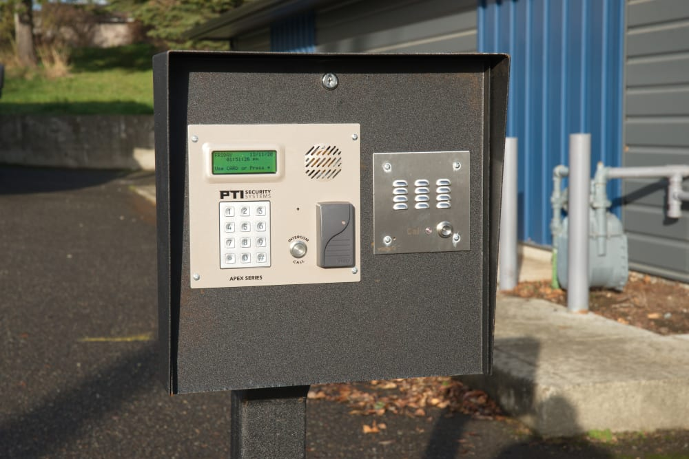 Keypad access system at Urban Storage on Bennett