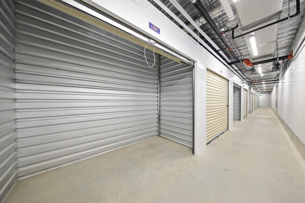 An open climate controlled unit at Storage Star Ben White in Austin, Texas
