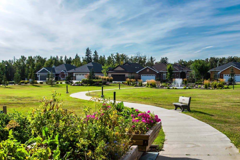 gardens at Touchmark at Wedgewood in Edmonton, Alberta
