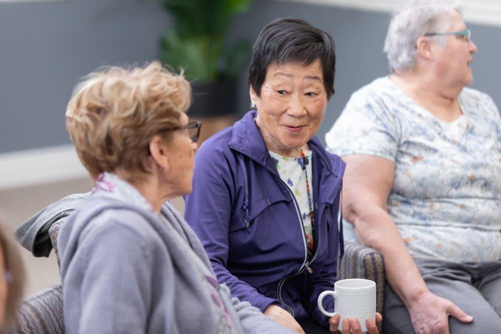 Women talking at Touchmark at Wedgewood in Edmonton, Alberta