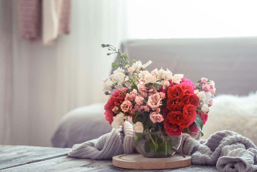 Stunning bouquet at Roseville Commons Senior Living in Roseville, California