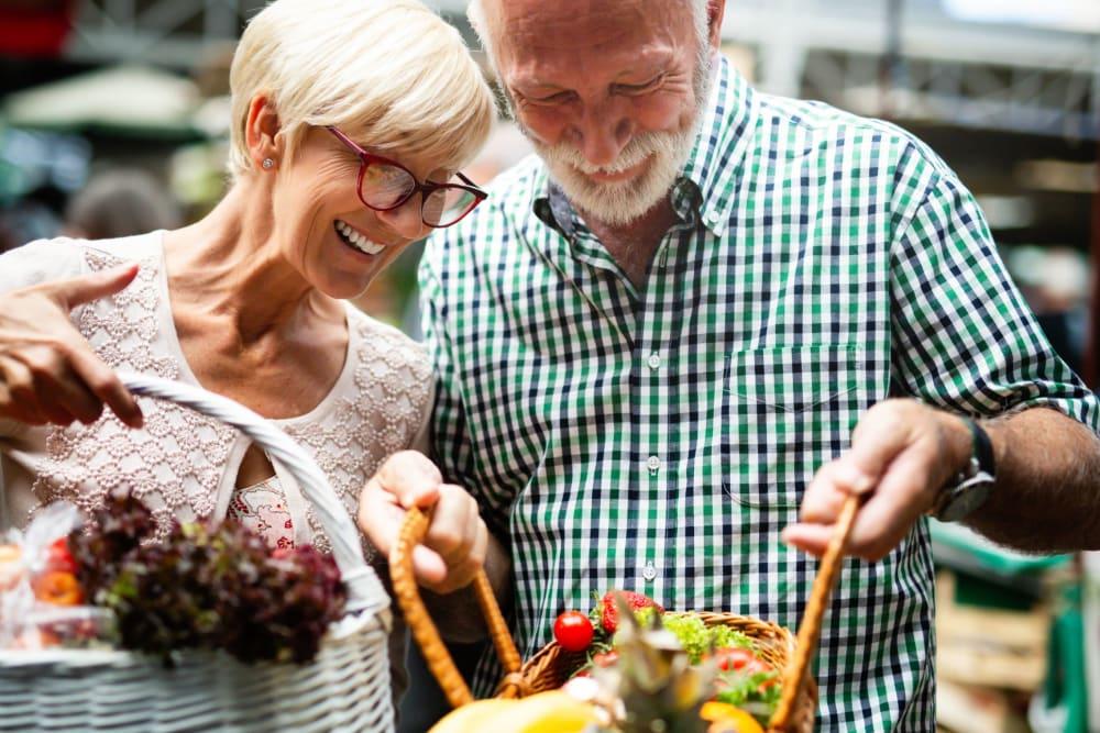Residents shopping near Roseville Commons Senior Living in Roseville, California