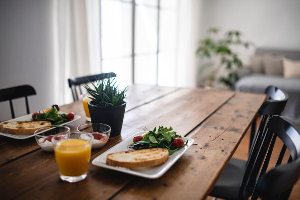Delicious breakfast at Castle Vista Senior Duplex Community in Atwater, California