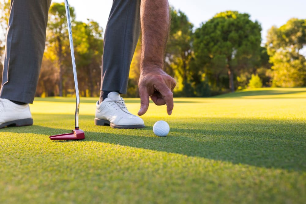 Golf course near Castle Vista Senior Duplex Community in Atwater, California