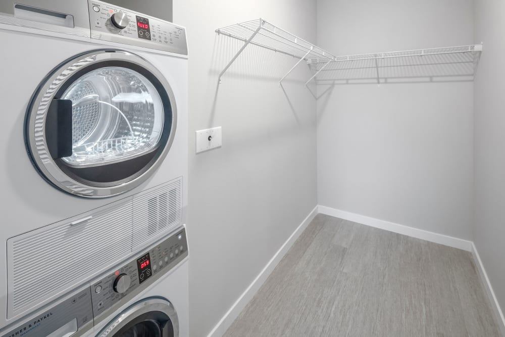 Washer and dryer at Division Terrace in Portland, Oregon