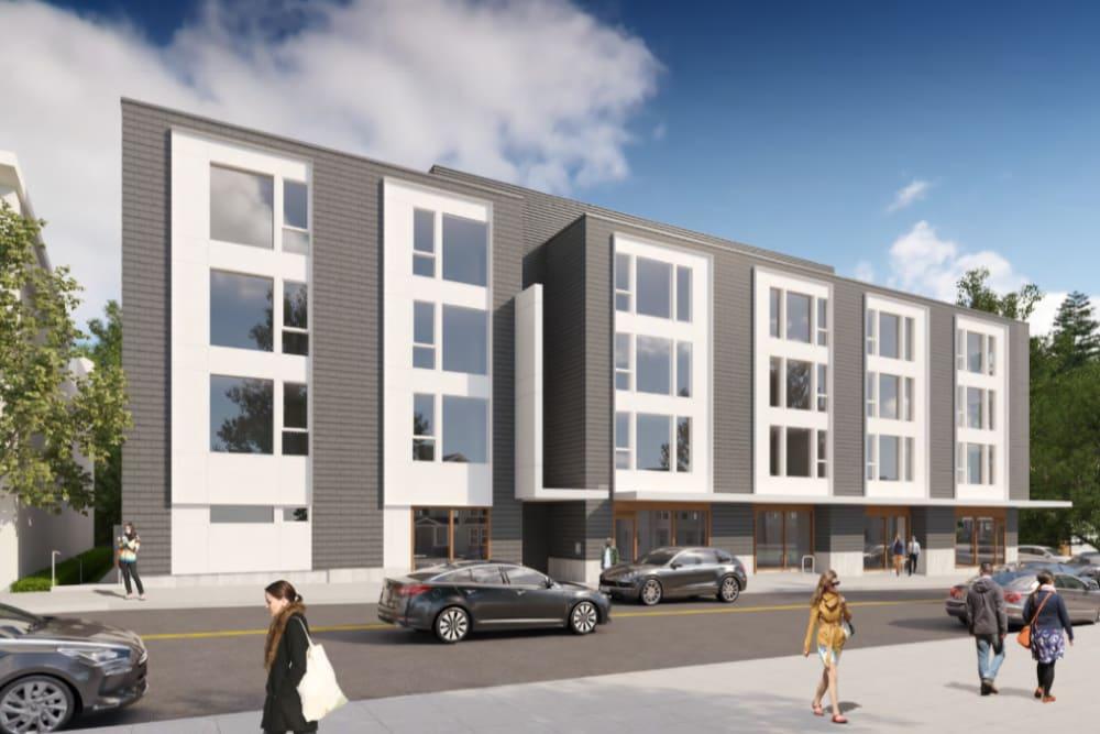 Exterior rendering of Division Terrace in Portland, Oregon