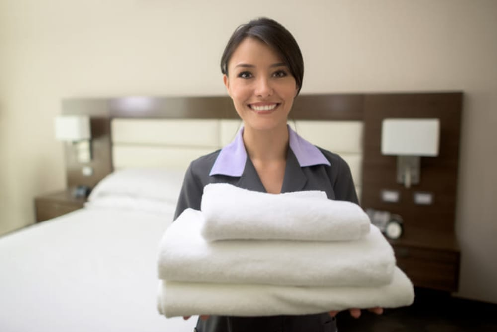 Housekeeper at Harmony at Tucker Station in Louisville, Kentucky
