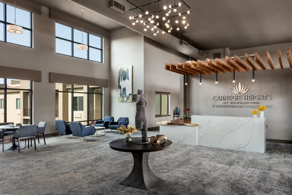 Entryway at Carnegie Heights at Henderson in Henderson, Nevada