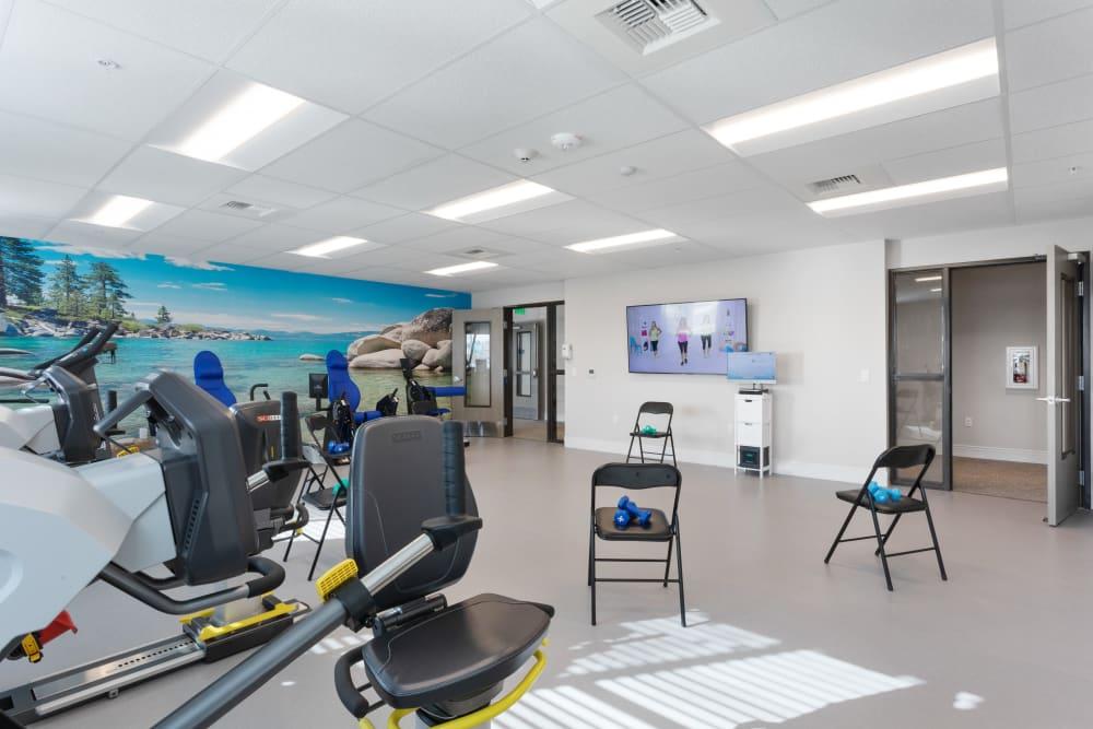indoor gym at WellQuest of Elk Grove in Elk Grove, California