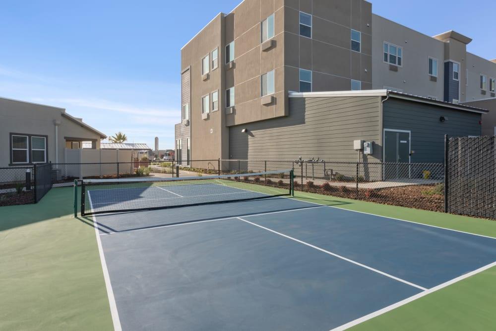 Outdoor tennis courts at WellQuest of Elk Grove in Elk Grove, California