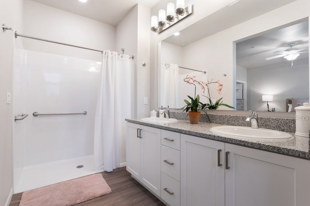 bathroom and with shower at WellQuest of Elk Grove in Elk Grove, California