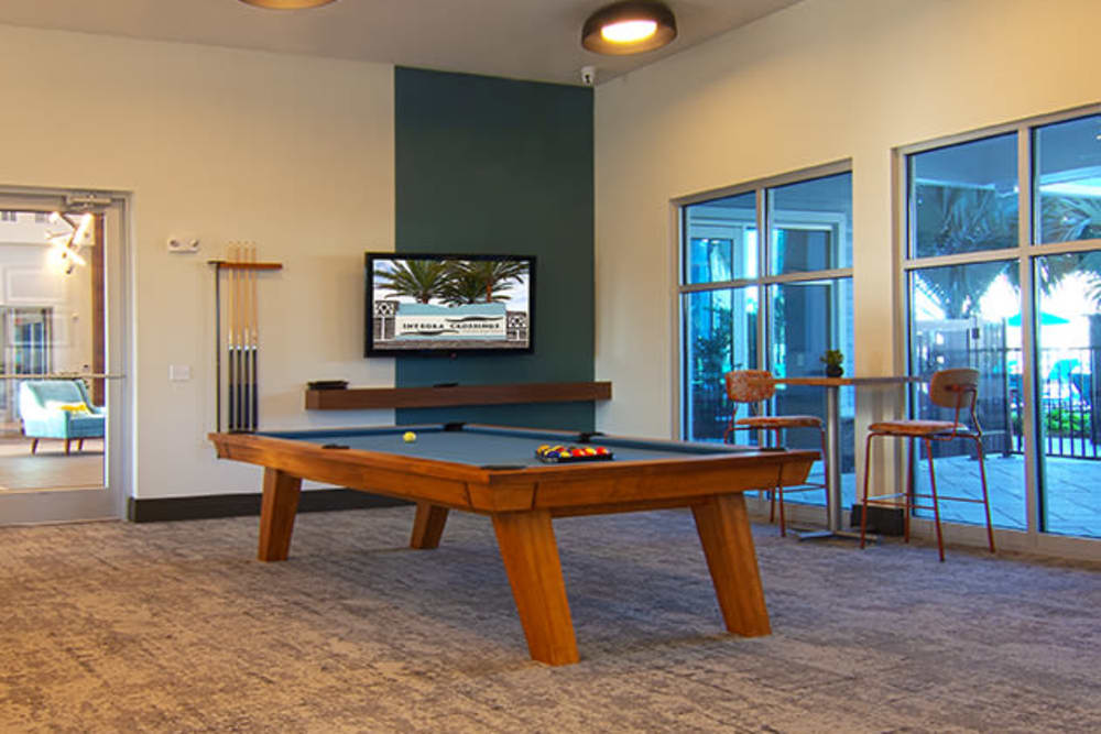 Pool Table with TV at Integra Crossings Sanford, Florida