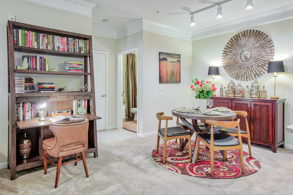 Dining area with desk at Oasis at Montclair Apartments in Dumfries , VA