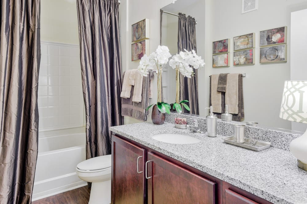 large bath at Oasis at Montclair Apartments in Dumfries , VA