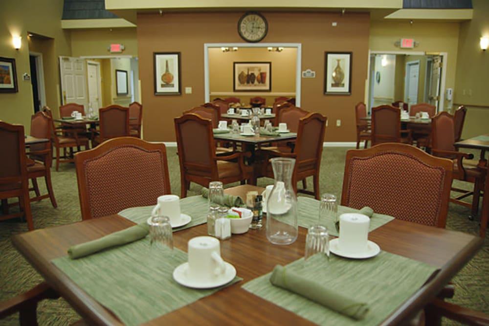 Dining room at Absaroka Senior Living in Cody, Wyoming