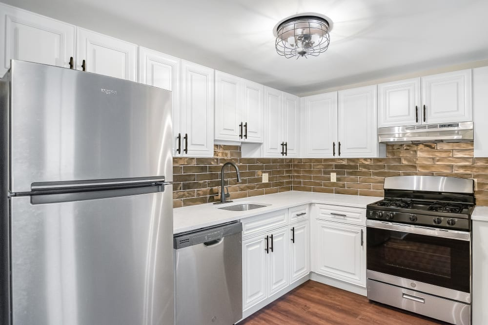 Kitchen view of unit of Retro 511 in West Haven, Connecticut