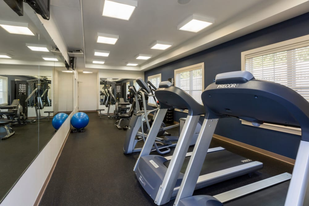 Fitness center at Regency Place in Wilmington, Massachusetts