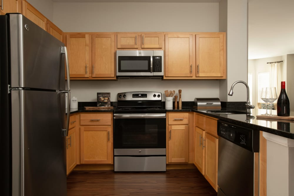 Large kitchen at Regency Place in Wilmington, Massachusetts