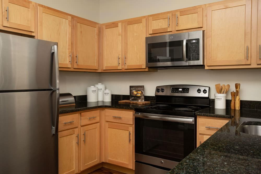 Kitchen appliances at Regency Place in Wilmington, Massachusetts