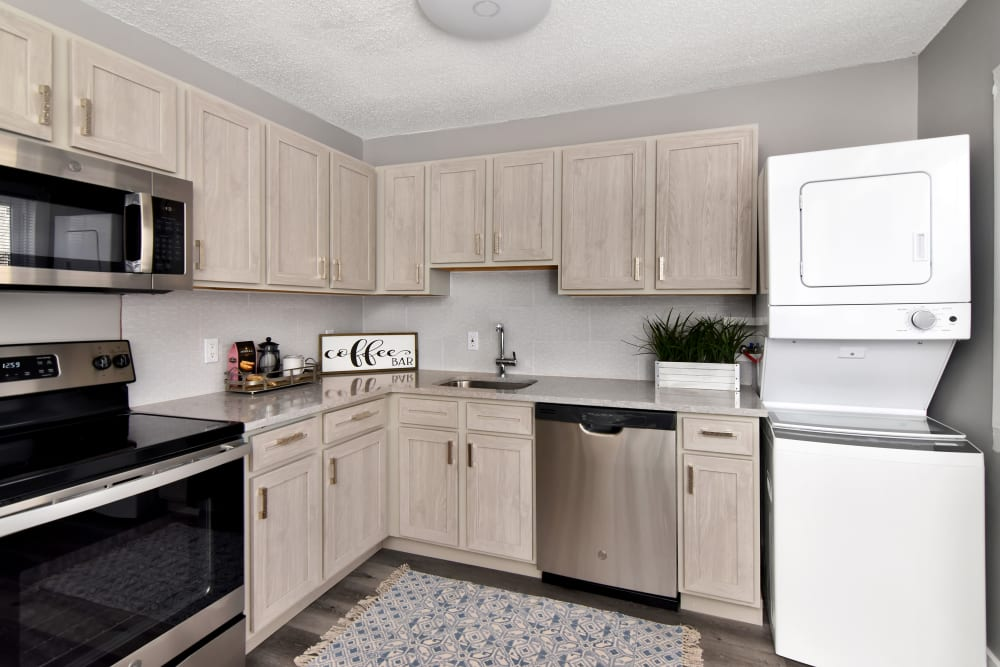 New kitchen cabinetry at Encore 99 in East Haven, Connecticut