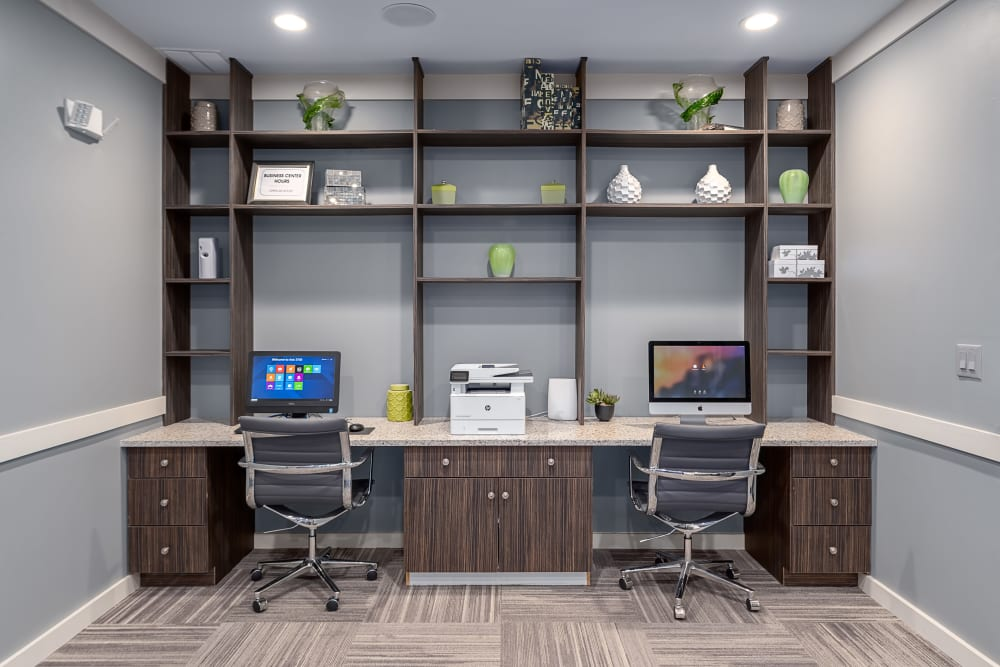 Business Center | Axis 3700 Apartments Plano, TX