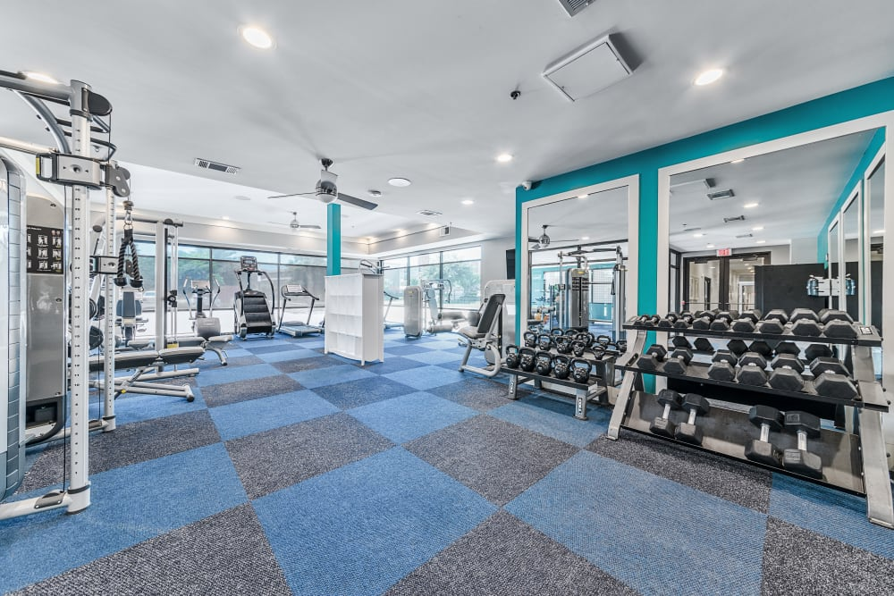 Fitness Center   Axis 3700 Apartments Plano, TX