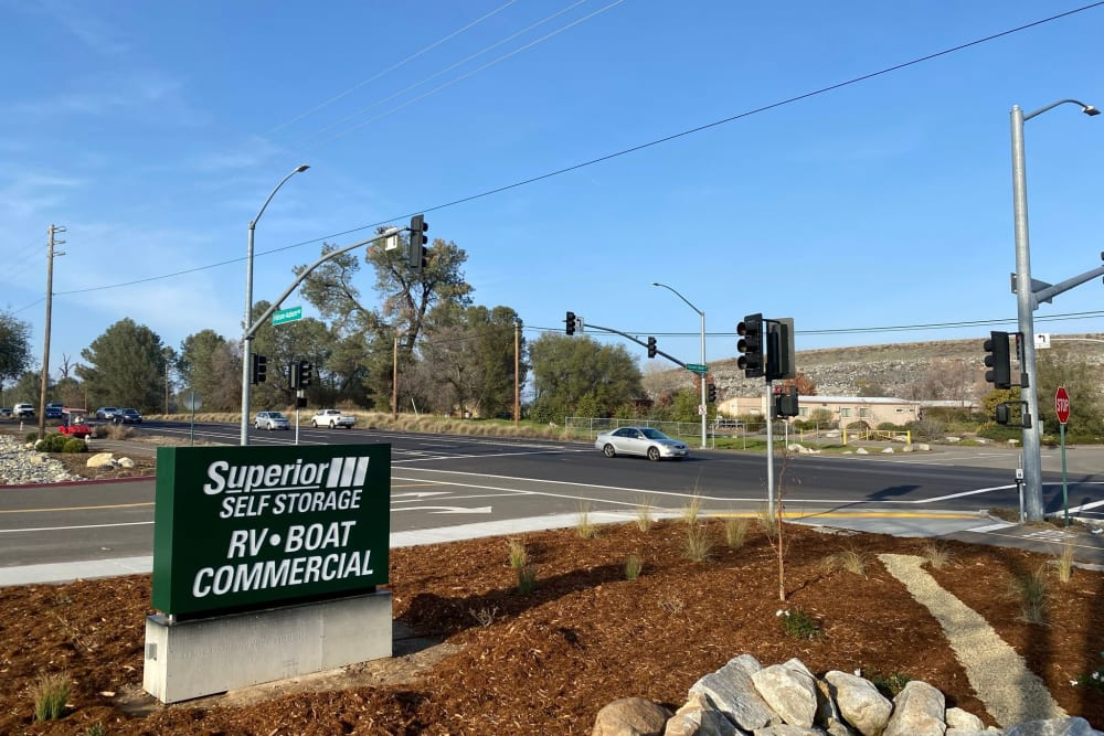 The exterior of Superior Boat, RV & Commercial Self Storage in Folsom, California