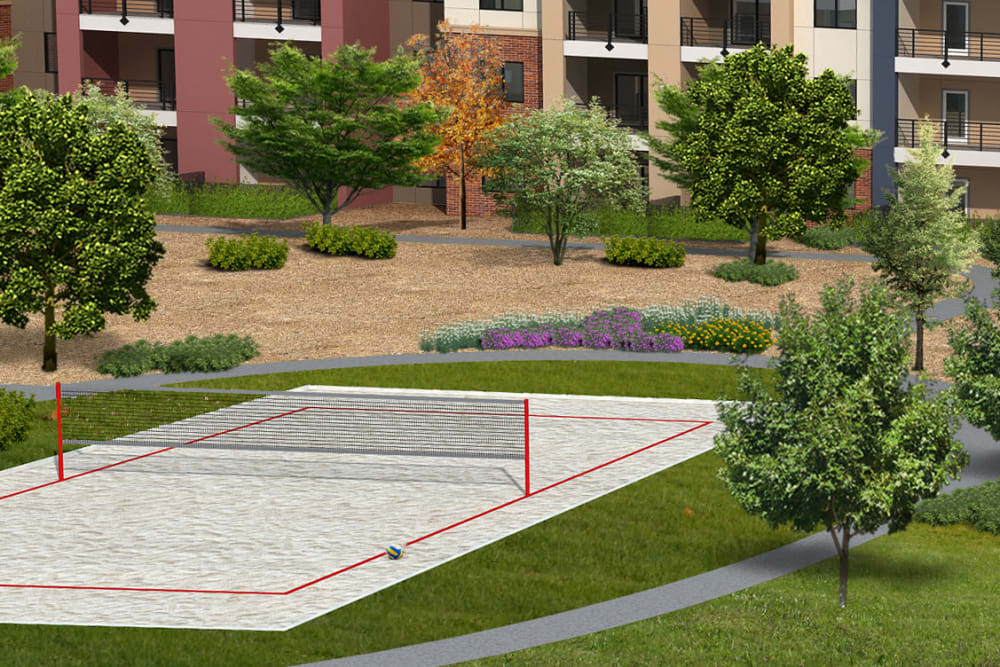 Rendering of the pickelball court at The Crossing at Cooley Station in Gilbert, Arizona