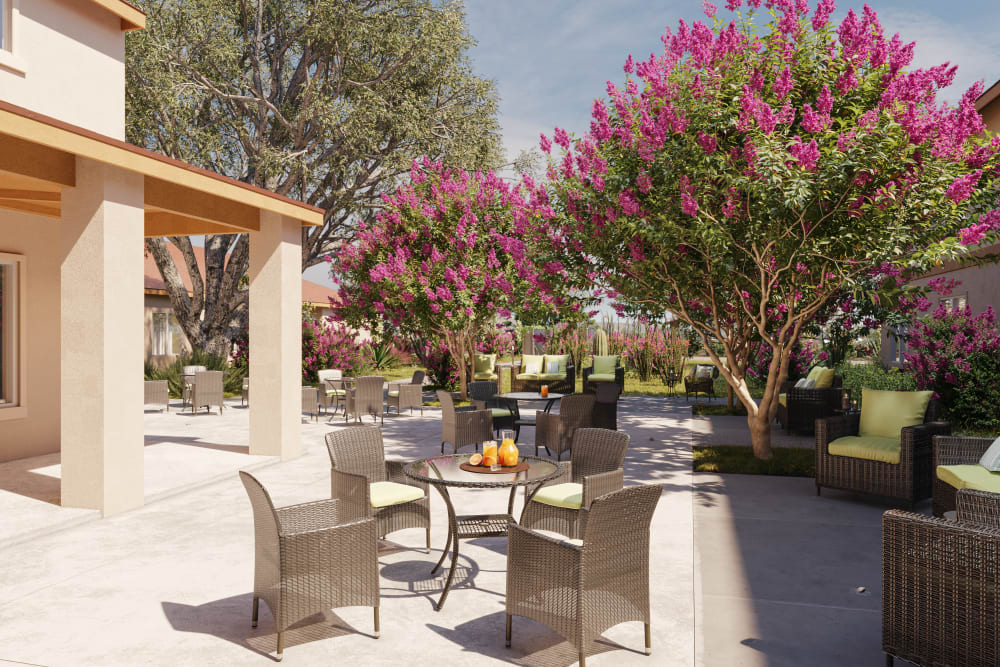 patio at Ativo Senior Living of Yuma in Yuma, Arizona