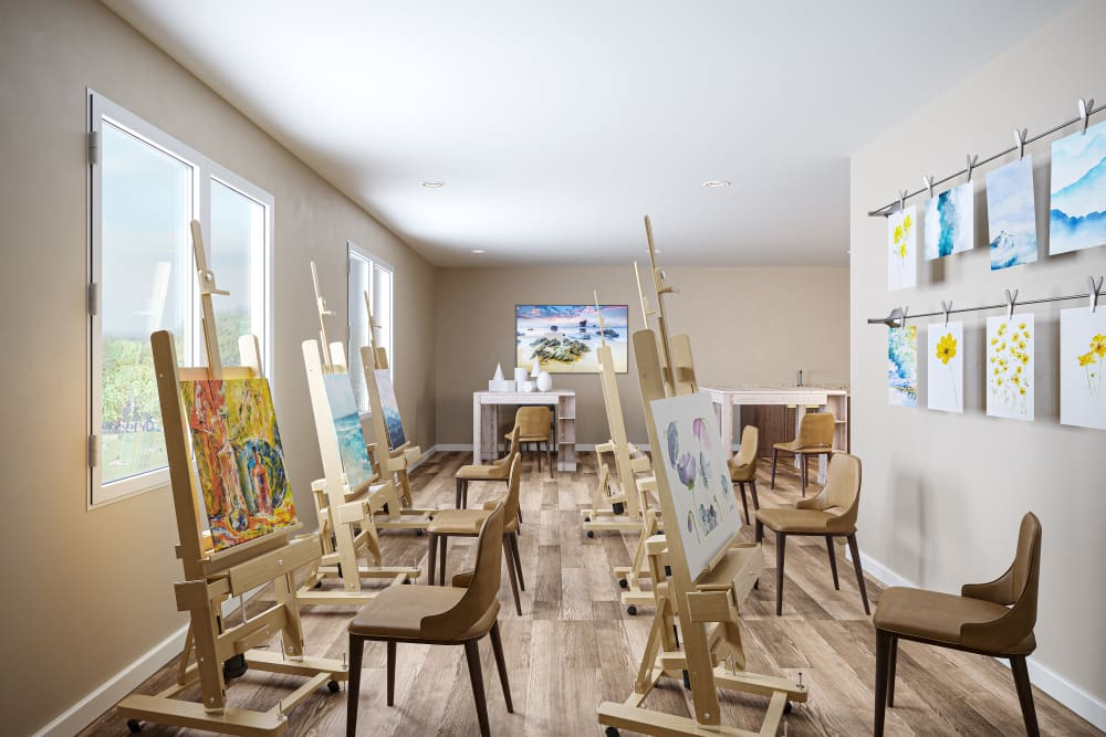 creative studio at Ativo Senior Living of Yuma in Yuma, Arizona