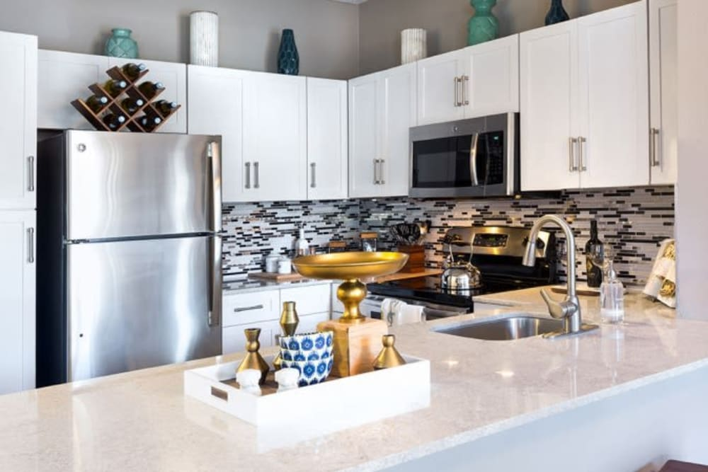 Artistic kitchens at Alesio Urban Center in Irving, Texas