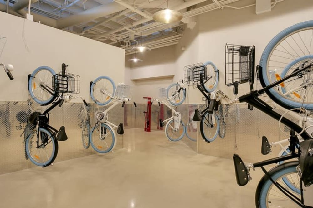 Bike room at Alesio Urban Center in Irving, Texas