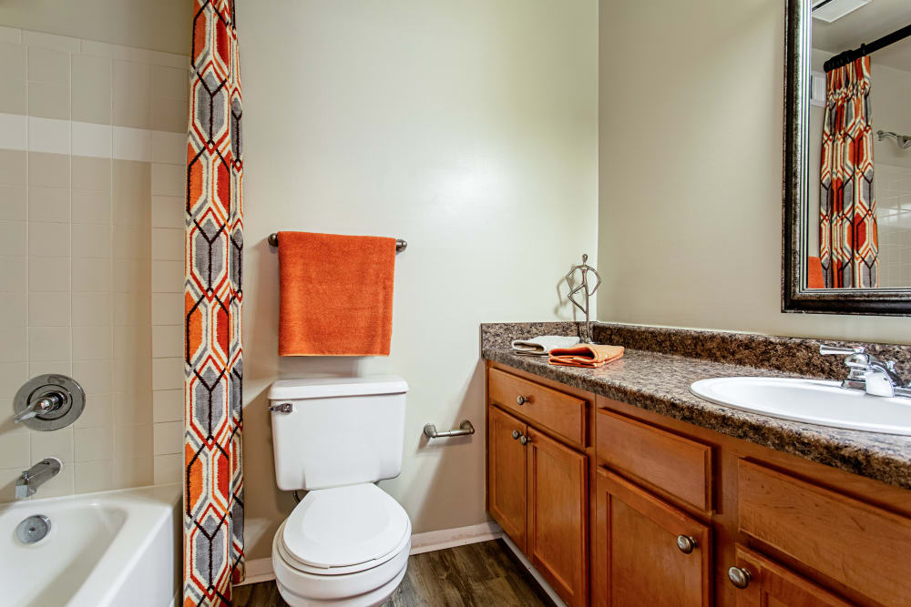 Updated bathrooms at Eagle Rock Apartments at Columbia in Columbia, Maryland