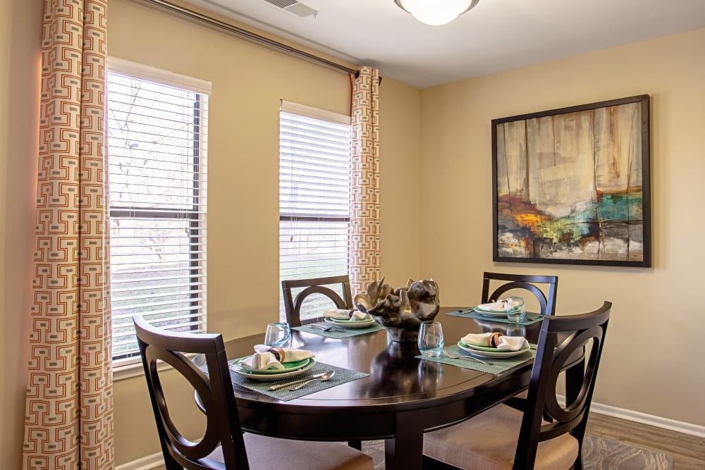 Dining area in an apartment at Eagle Rock Apartments at Columbia in Columbia, Maryland