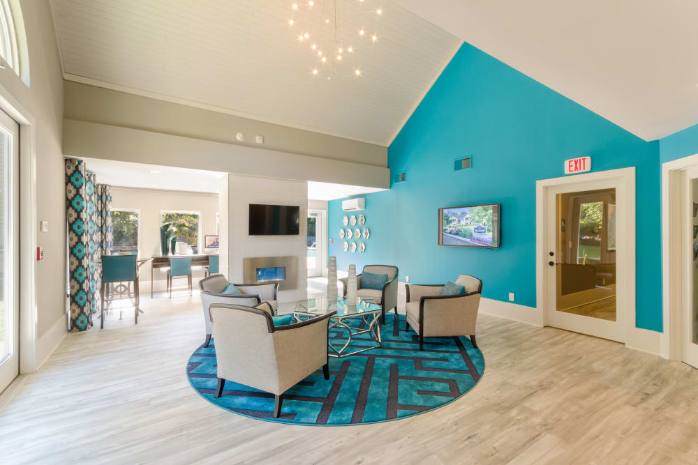Group seating area at Eagle Rock Apartments at Columbia in Columbia, Maryland
