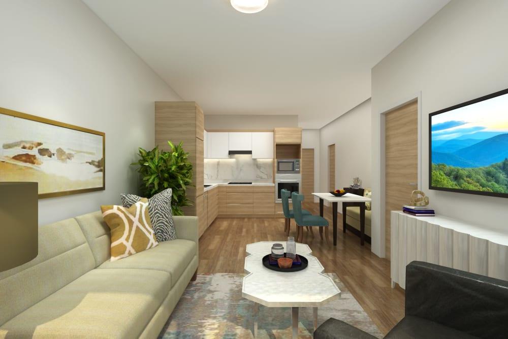 Interior apartments space at The Vista in Esquimalt, British Columbia