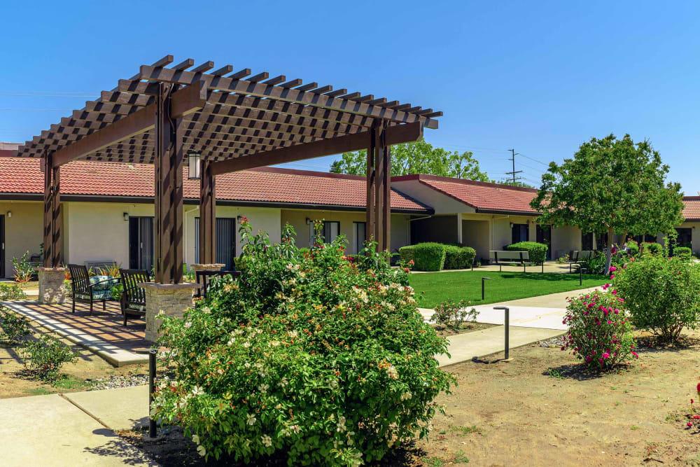The lawn at Park Visalia in Visalia, California.