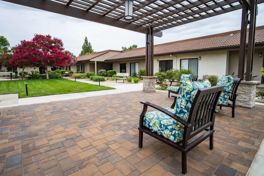 The back patio at Park Visalia in Visalia, California