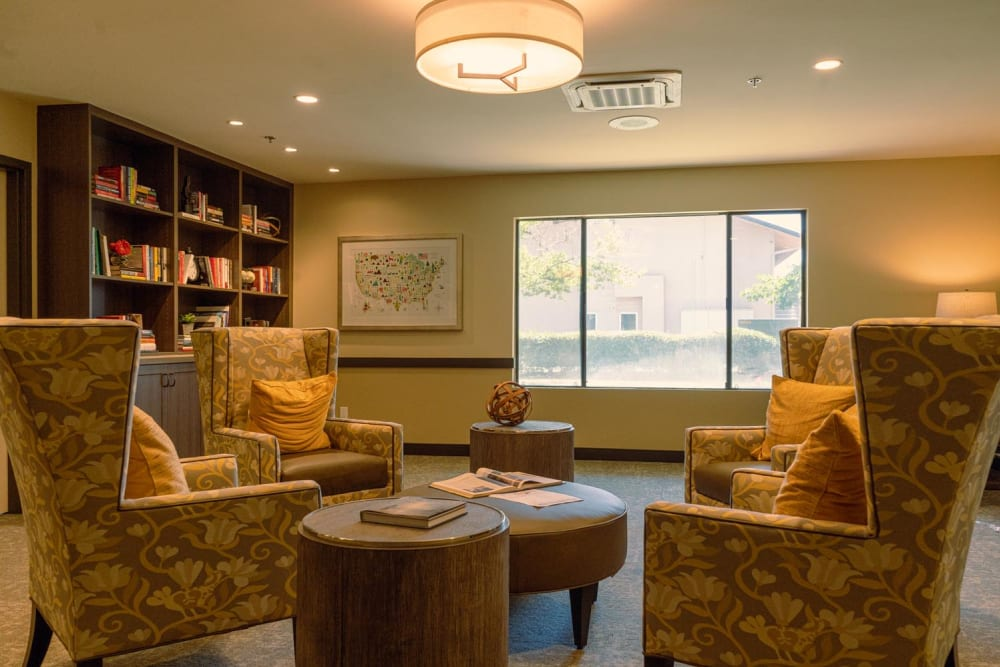 Cozy seating area at Park Visalia in Visalia, California.