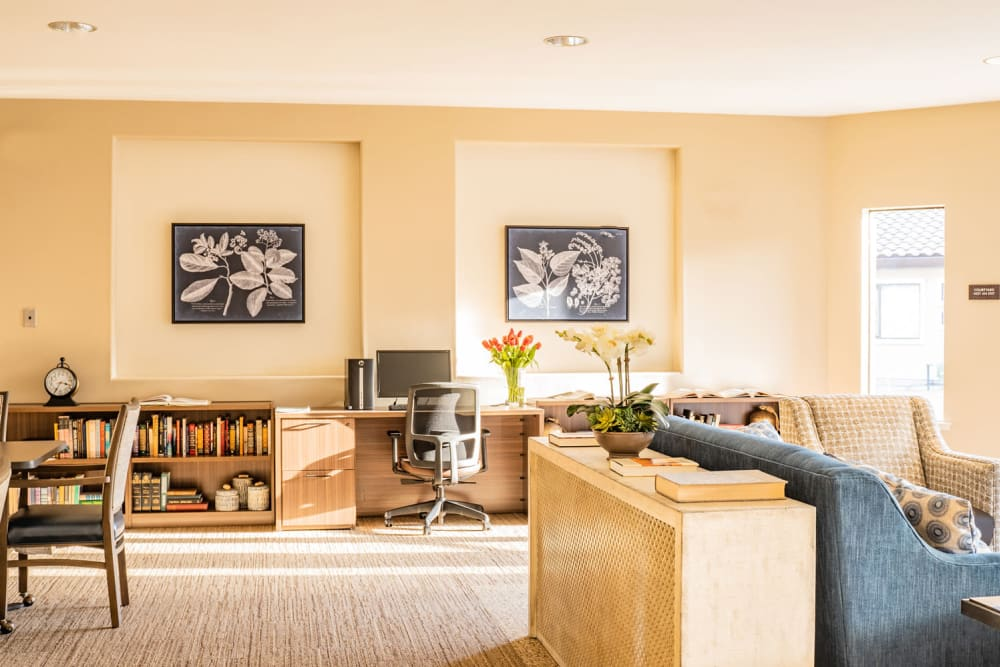 Cozy seating area at Carefield Pleasanton in Pleasanton, California.