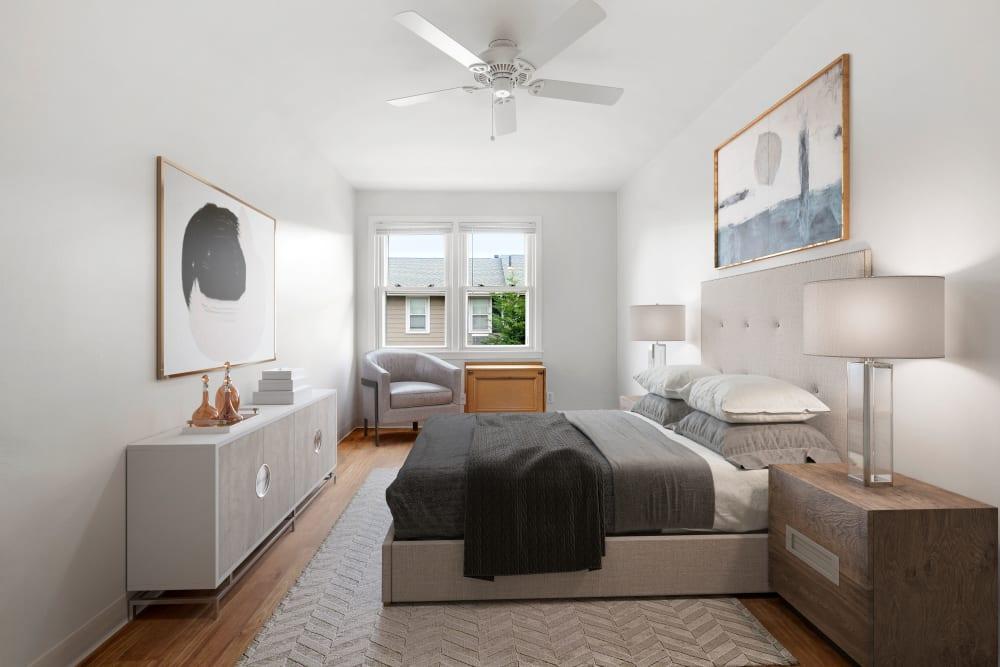 Bedroom at Brandywyne Village in East Boston, Massachusetts
