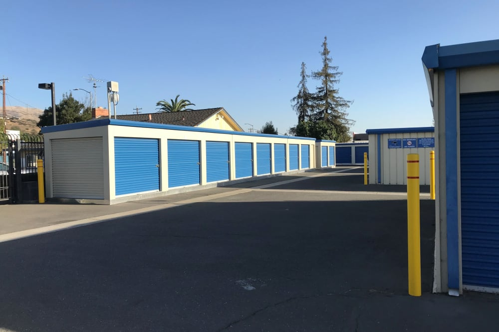 Drive up units at Storage Solutions in Fremont, California