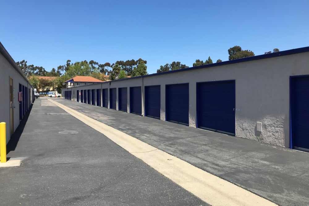 Drive up units at Storage Solutions in San Marcos, California