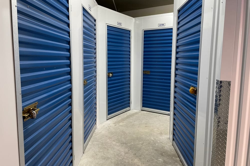 Interior units at Storage Solutions in Capistrano Beach, California