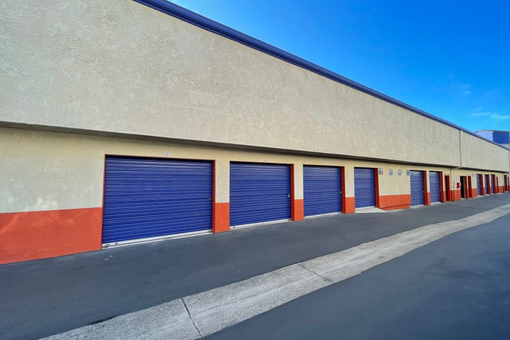 Drive up units at Storage Solutions in Capistrano Beach, California