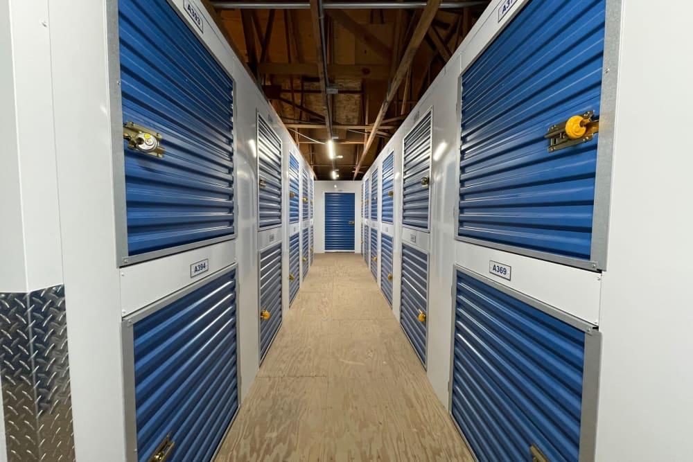 Interior units at Storage Solutions in Capistrano Beach, California