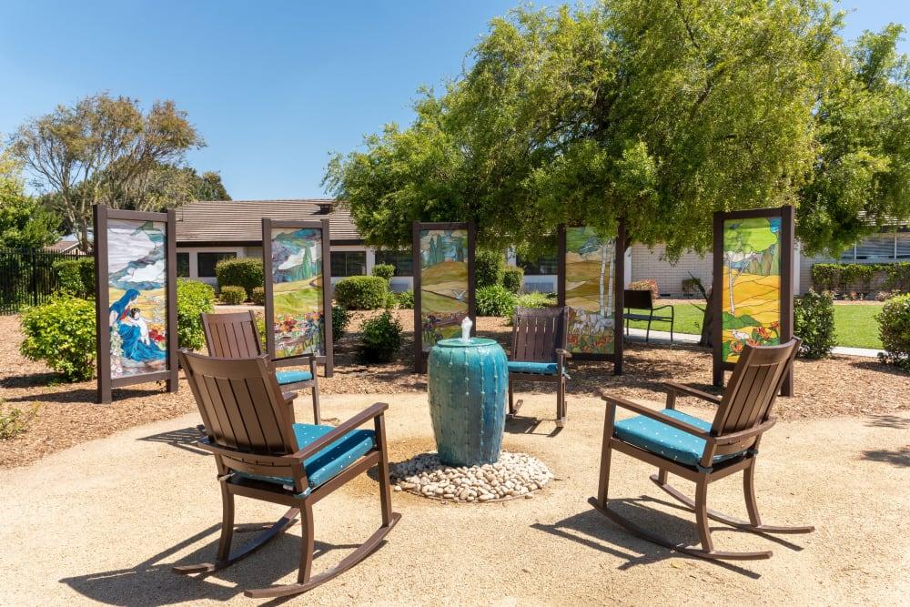 Outdoor area at Madonna Gardens in Salinas, California.