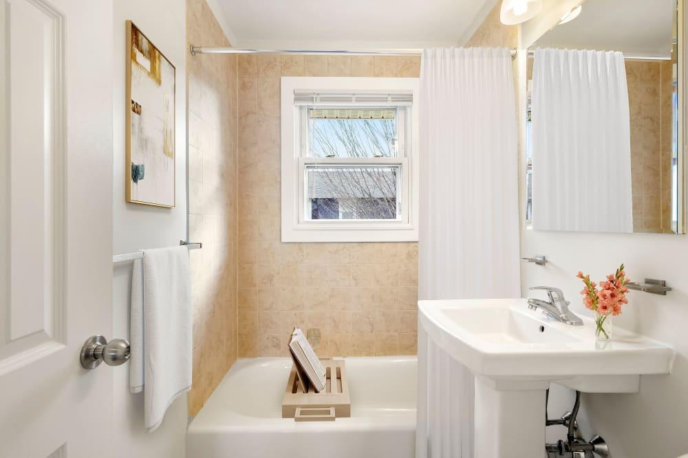 Bathroom at Brandywyne Village in East Boston, Massachusetts
