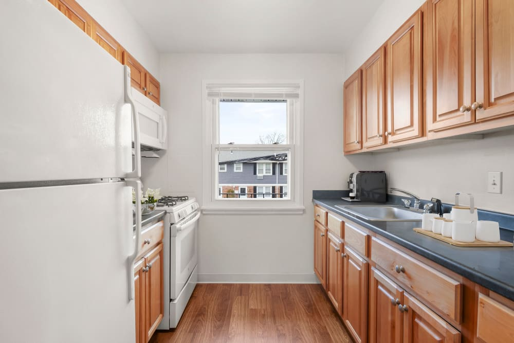 Kitchen at Brandywyne Village in East Boston, Massachusetts