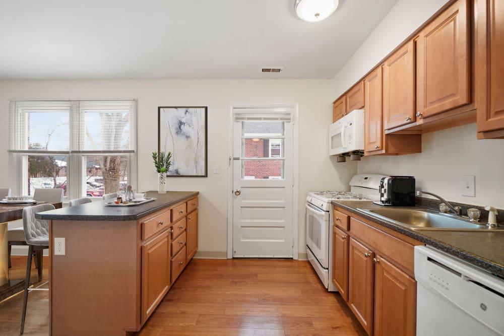 Open kitchen at The Fairways in Worcester, Massachusetts